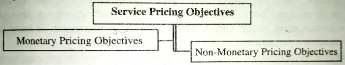 Service Pricing Objectives