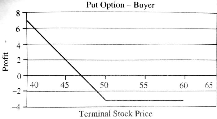 Pay-Off for the Put Option Buyer
